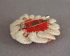 crochet brooch back