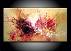 Abstract Art Paintings | COMMISSION PAINTING. MODERN ABSTRACT ART. ORIGINAL PAINTING, 18 X 36 ...