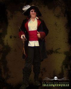 Costume de femme pirate corsère pour l'Halloween