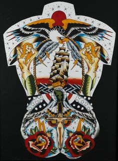 Find the perfect tattoo artist to create the work of art that is you Traditional Tattoo Dragon, Traditional Back Tattoo, Traditional Tattoo Design, Time Tattoos, Body Art Tattoos, Sleeve Tattoos, Tatoos, Sailor Jerry Tattoo Flash, Sailor Tattoos