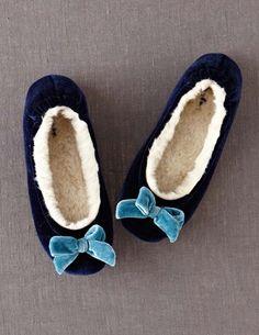 Velvet Slippers $48
