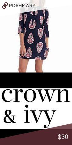 Crown and Ivy Dress Crown and Ivy Dress.  The dress was originally $78.00 at Belk.  It has been worn once. Crown & Ivy Dresses Midi