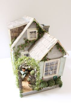 Summer House Custom Dollhouse Battery Operated Fully Furnished by cinderellamoments on Etsy