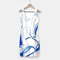 Blue Marker Succulent White