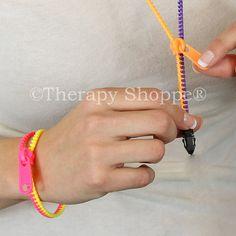 Zipper Fidget Jewelry | Fiddle, Fidgeting Toy | Finger Strengthening