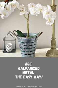 How To Age Galvanized Metal With A Heat Gun & Giveaway - Diy Poject Ideas Diy Projects For Beginners, Diy Craft Projects, Project Ideas, Diy Crafts, Craft Ideas, Galvanized Metal, Galvanized Decor, Vegetable Bin, Modern