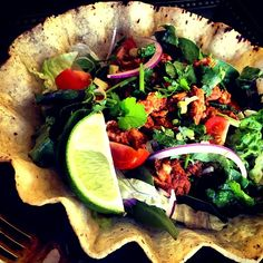 メキシカンライスも中に少しだけ入れました^^ - 37件のもぐもぐ - Fish Taco salad by koppe