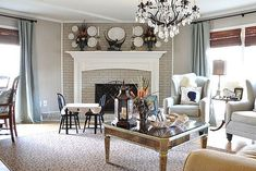 family room before amp after, home decor, living room ideas, window treatments