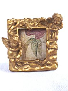 Picture Frame, Cherub Picture Frame, Shabby Chic Decor, Cherub Photo Frame, French Farmhouse Decor, Shabby Chic Picture Frame, Home Decor by AgedwithGraceVintage on Etsy
