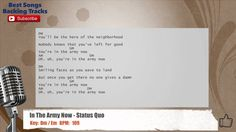 In The Army Now - Status Quo Vocal Backing Track with chords and lyrics