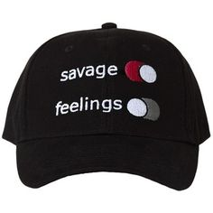 2f9570dcab2 Savage Over Feelings Black Hat Hats And Caps
