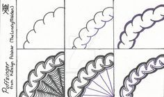 I used black and purple Sharpie Pens on a 3x5 note card. This pattern is my own…