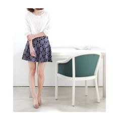 Flower motif skirt from Japan