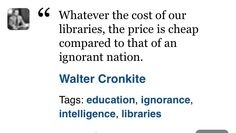 Library quote