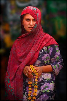Asia: Flower Seller, Pakistan