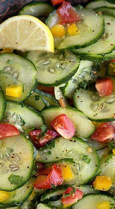Fresh Lemon Cucumber Salad