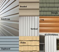 Vinyl siding types and styles styles may include texture for Types of house siding materials