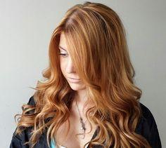 caramel blonde balayage