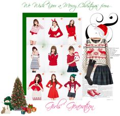 """""""Merry Christmas from Girls' Generation :3"""" by raven-chan ❤ liked on Polyvore"""