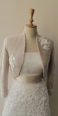 The longer version. Goodness, this is so pretty! Bridal Bolero Wedding Shrug Wrap Capelet by crochetbutterfly, $85.00
