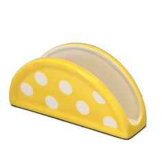 Ceramic Napkin Holder in Retro Yellow with by BeautifullyPractical, $15.00 . For more pics, and all the details, visit: www.etsy.com/shop/beautifullypractical  #ceramic, #napkin holder, #letter holder, #file holder, #beautifullypractical Napkin Holders, Letter Holder, Ceramics Projects, Shabby Chic Decor, Fused Glass, Project Ideas, Napkins, Pottery, Inspire