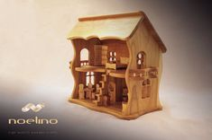 Wooden house for dolls, finished with natural oils and beeswax. Wooden Dollhouse, Dollhouse Furniture, Dollhouse Miniatures, Natural Oils, Natural Wood, Essential Oil Scents, Summer Activities For Kids, Wooden House, Educational Toys