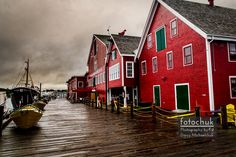 This is the Harbor at Lunenburg, Nova Scotia. It was incredibly overcast and the colors were amazing. Wonderful Places, Beautiful Places, East Coast Canada, Nova Scotia Travel, Quebec, Alaska, Trois Rivieres, Atlantic Canada, Canada Eh