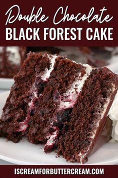 Chocolate Cake With Cherries, Moist Chocolate Cakes, Chocolate Cake Fillings, Chocolate Filling For Cake, Buttermilk Chocolate Cake, Chocolate Chiffon Cake, Chocolate Cake From Scratch, Best Chocolate Cake, Moist Cakes