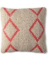 Mudhut Global Chindi Toss Pillow - Neon Pink
