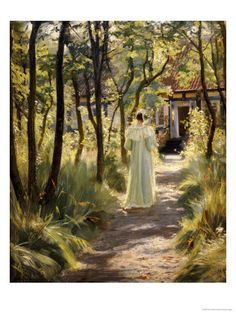 Marie in the Garden, 1895 Posters af Peder Severin Kröyer.