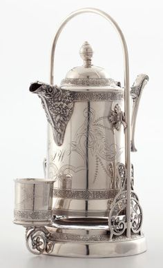 Silver Holloware, American:Pitchers, Whoopi Goldberg Collection. CHARLES W. HAMILL SILVER-PLATED LEMONADE AND ICED TEA PITCHER ON STAND