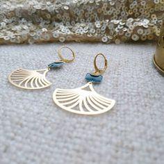 Items similar to Earrings - Earrings - Fine Gold - Paloma - O JOAA Creations - Golden Oil Blue on Etsy Diy Earrings Dangle, Dainty Earrings, Sterling Silver Earrings Studs, Wire Jewelry, Jewelery, Handmade Jewelry, Jewelry Necklaces, Copper Accessories, Fabric Necklace