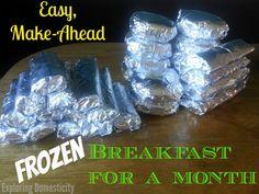 Easy make-ahead frozen breakfast