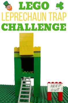 Can you design a LEGO leprechaun trap that will actually catch a leprechaun?  This is a fun Saint Patrick's Day activity for kids (and kids at heart) who love LEGO! #LEGO #LEGOLeprechaunTrap #LeprechaunTraps St Patrick's Day Crafts, Crafts For Boys, Diy For Kids, Lego Activities, Activities For Boys, Lego Books, Used Legos, Lego Projects, Projects For Kids