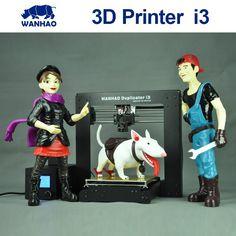 299.00$  Buy now - http://alig9j.worldwells.pw/go.php?t=32754836677 -  High quality metal Frame WANHAO Prusa I3 3D Desktop printer