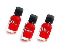 #Dior Vernis Nail Polish Review, Photos #Nailpolish #Packaging #Red