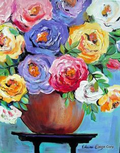 A Rose is a Rose 16 x 20 Still life original painting by Elaine Cory