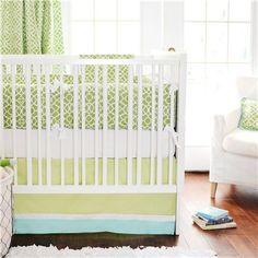 Modern Green Crib Bedding #newarrivals #cribbedding #nurserydecorideas #greencribbedding