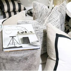 "Eadie says ""once again....such a beautiful pic of our much loved Villa cushion and Haute Cushion, by the clever team at Coco and Creme, Port Melbourne.  Thanks guys.....you make us feel very pretty ☺"" www.eadielifestyle.com.au #eadie_lifestyle #eadiecushions #linencushions #featherfilledcushions #linenbedspread #velvetthrows #linenthrows #aussiebrand"