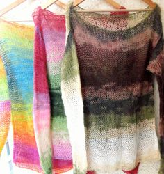 Oversized Sweater, Hand Knit Tunic, Womens Knit Sweater, Multicolor Mohair Top, Mohair Sweater, Brown and Green Top, Slouchy Top, Bohemian