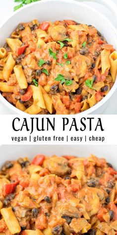 This Cajun Pasta is super easy to make and packed with such amazing flavors. No … This Cajun Pasta is super easy to make and packed with such amazing flavors. No one would ever guess it is vegan and gluten… Continue Reading → Tasty Vegetarian Recipes, Vegan Dinner Recipes, Vegan Dinners, Veggie Recipes, Beef Recipes, Whole Food Recipes, Easy Veggie Meals, Cheap Vegan Recipes, Easy Gluten Free Meals