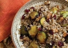 Warm Salad of Millet and Brussels Sprouts with Cranberries and Walnuts - I used bulgur instead of millet and it turned out really good. Also, I want to try adding apples to the Brussels sprouts.