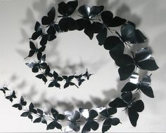 _ As birds__ Metal Butterfly Wall Art Decor, Mural / Collage Kit, Recycled Aluminum Cans, Decorative Pins - Black Butterfly (Small kit, 25 pieces) Black Wall Art, Metal Wall Art Decor, 3d Wall Art, Metal Art, Metal Butterfly Wall Art, Butterfly Wall Stickers, Butterfly Art, Butterfly Cutout, Paper Butterflies