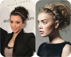 5 Inspired Updo Hair styles 2014 with Remy Human Hair Extensions - Trendy Hairstyles, Bun Hairstyles, Wedding Hairstyles, Hair Styles 2014, Curly Hair Styles, Updo With Headband, Blond, Love Hair, Human Hair Extensions