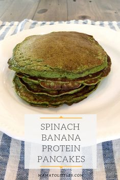 Looking for a trick to get your toddler or child to eat more veggies? Try hidden veggies in these Spinach Banana Green Pancakes. They are packed with vitamins, nutrients and protein, and I promise the green color won't scare off your little one! Healthy Breakfast For Kids, Healthy Toddler Meals, Delicious Breakfast Recipes, Healthy Family Meals, Nutritious Meals, Kids Meals, Healthy Breakfasts, Toddler Food, Breakfast Ideas