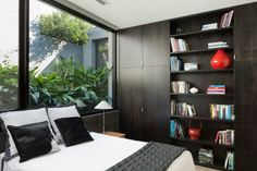 Exterior:Interesting Decoration For Bedroom With Large Windows And Platform Bed With Cool Stylish Storage Space The Toorak House Designs Tha...