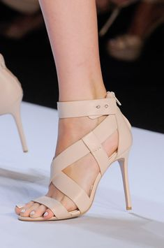 Badgley Mischka - New York Fashion Week Spring 2014 | Cynthia Reccord. Via @cattknap. #heels #BadgleyMischka