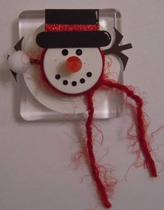 Tea Light Snowman by woodknot - Cards and Paper Crafts at Splitcoaststampers