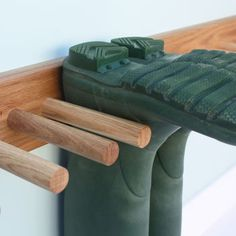 Oak Welly Rack