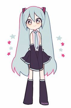 VocaloidddddYou can find Hatsune miku and more on our website. Arte Do Kawaii, Kawaii Art, Cute Art Styles, Cartoon Art Styles, Kawaii Drawings, Cute Drawings, Cartoon Drawings, Arte Sketchbook, Art Et Illustration